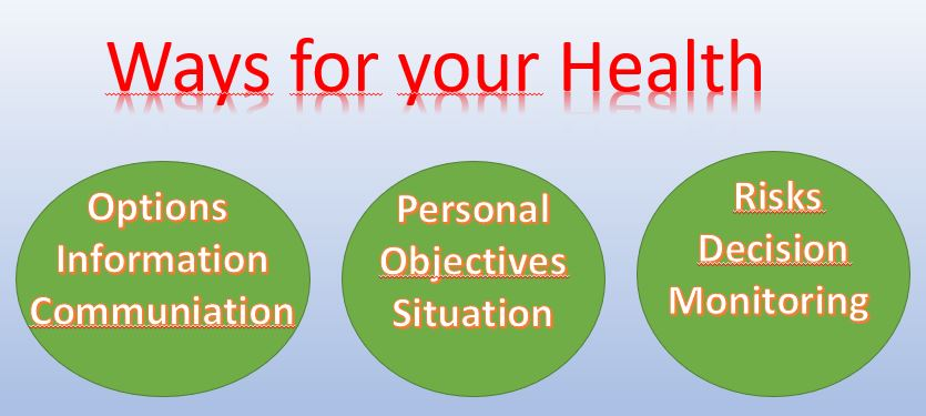 My personal Way to Health, Opportunities and Decisions